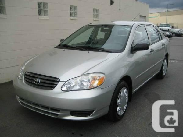 2004 Toyota Corolla 4dr Sdn Ce Manual For Sale In