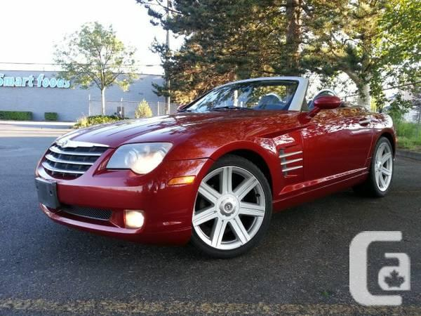 2005 chrysler crossfire convertible for sale in vancouver british columbia classifieds. Black Bedroom Furniture Sets. Home Design Ideas