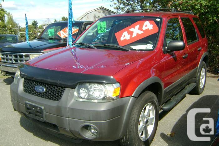 2005 ford escape 4x4 for sale in north saanich british columbia classifieds. Black Bedroom Furniture Sets. Home Design Ideas