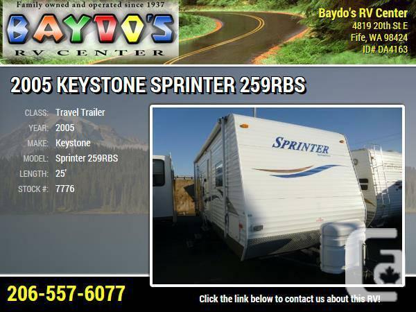 2005 Keystone Sprinter 259RBS Travel Trailer