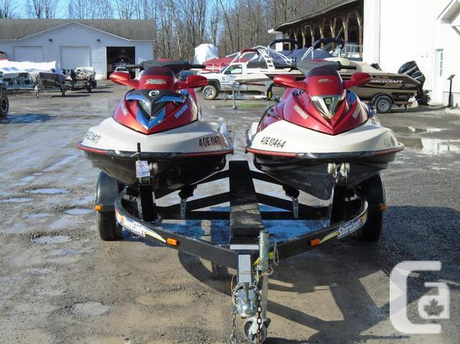 2005 Seadoo RXT 215 hp & 2002 Seadoo GTX 4-TEC Limited 155 hp with Trailer  in Kemptville, Ontario for sale