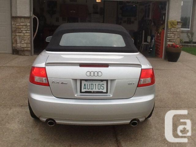 2006 audi a4 cabriolet s line for sale in white city. Black Bedroom Furniture Sets. Home Design Ideas