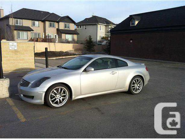 2006 infiniti g35 m6 sport coupe for sale in calgary alberta classifieds. Black Bedroom Furniture Sets. Home Design Ideas