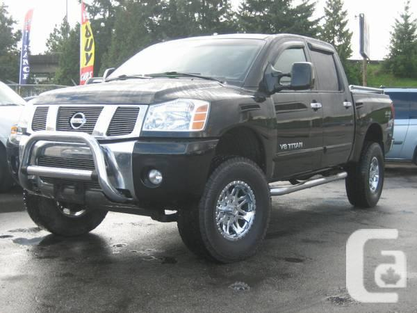 2006 lifted nissan titan for sale in vancouver british columbia classifieds. Black Bedroom Furniture Sets. Home Design Ideas
