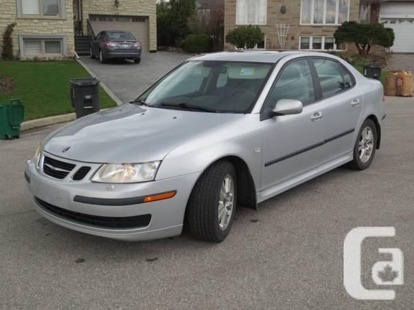 2006 Saab 9-3 silver leather - $9990