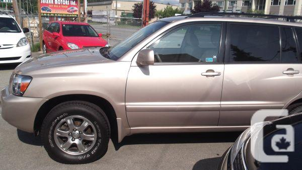 2006 toyota highlander four wheel drive for sale in vancouver british columbia classifieds. Black Bedroom Furniture Sets. Home Design Ideas
