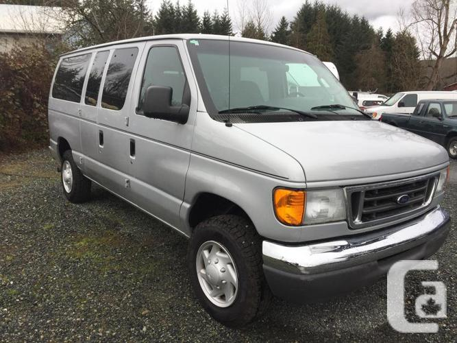 2007 ford e350 van 12 passenger blow out price for sale in koksilah british columbia. Black Bedroom Furniture Sets. Home Design Ideas