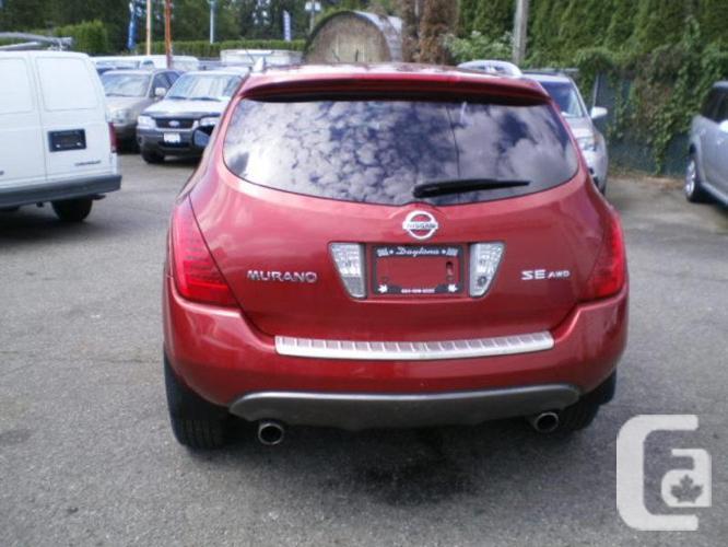2007 Nissan Murano SE, leather, sunroof,