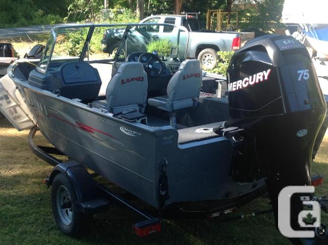 2008 16'1/2fter with 75 hp 4 stroke low hrs.