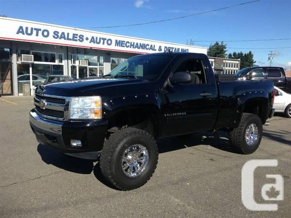 2008 chevrolet silverado 1500 lifted 5 3l reg cab 4x4 short bed truck for sale in abbotsford