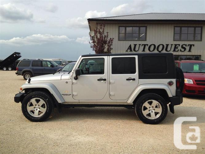 Jeep Wrangler Unlimited 2008 For Sale 2008 Jeep Wrangler Sahara Unlimited for sale in Lorette, Manitoba ...