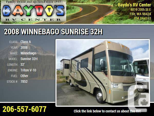 2008 Winnebago Sunrise 32H Class A