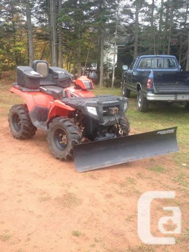 """2010 500 4x4  with 48"""" plow"""