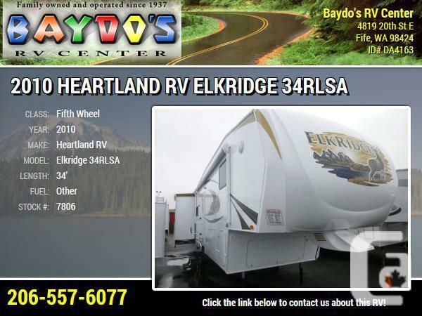 2010 Heartland RV Elkridge 34RLSA Fifth Wheel