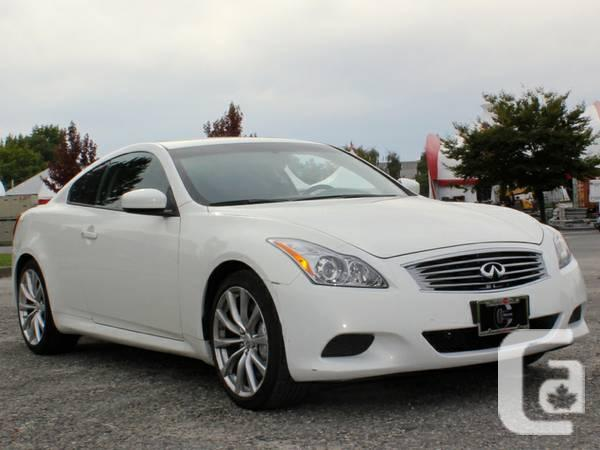 2010 infiniti g37 coupe s 2 door coupe for sale in vancouver. Black Bedroom Furniture Sets. Home Design Ideas