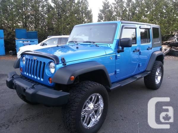 2010 jeep wrangler big blue for sale in kelowna british columbia classifieds. Black Bedroom Furniture Sets. Home Design Ideas