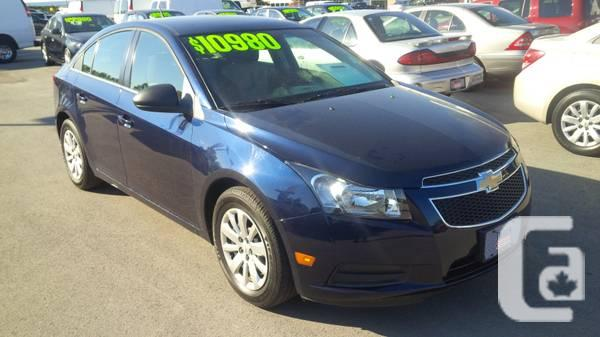 2011 CHEVY CRUZE LS 6 SPEED MANUAL - $10980