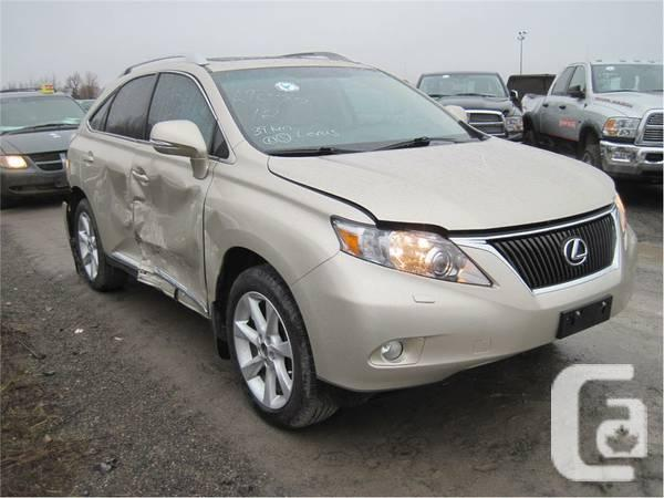 2012 lexus rx 350 touring damage for sale in brantford ontario classifieds. Black Bedroom Furniture Sets. Home Design Ideas