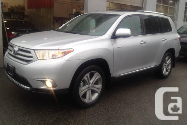 2013 toyota highlander limited for sale in vancouver british columbia classifieds. Black Bedroom Furniture Sets. Home Design Ideas