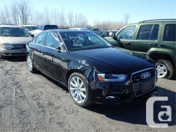 2014 audi a4 damaged for sale in peterborough ontario classifieds. Black Bedroom Furniture Sets. Home Design Ideas