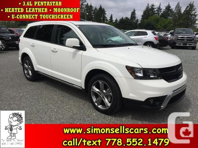 2014 DODGE JOURNEY CROSSROAD - HEATED LEATHER -