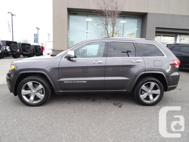 2014 jeep grand cherokee overland w leather interior navigation for sale in langley british. Black Bedroom Furniture Sets. Home Design Ideas