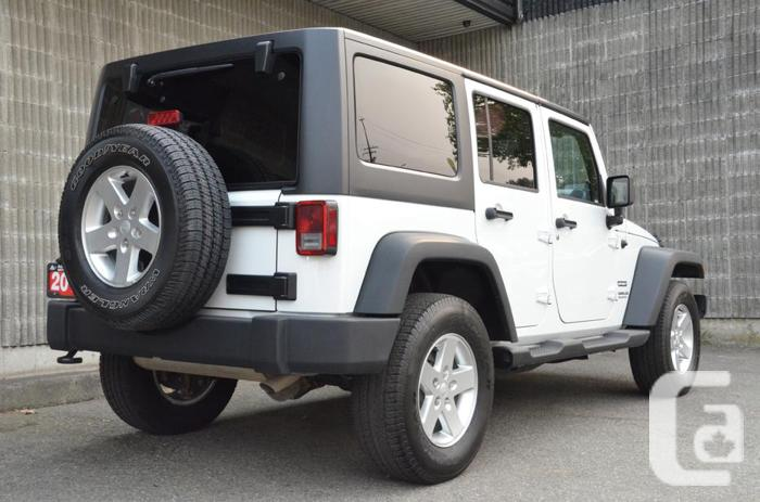 2014 jeep wrangler unlimited sport for sale in new westminster. Cars Review. Best American Auto & Cars Review