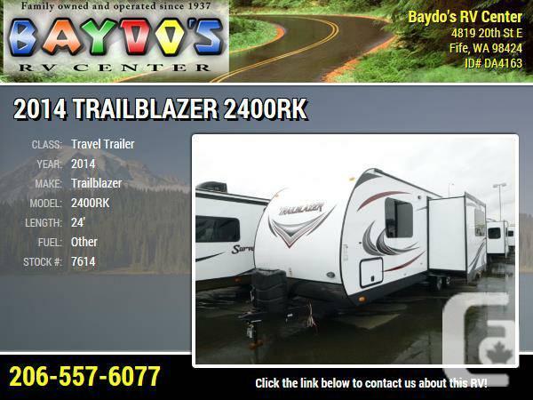 2014 Trailblazer 2400RK Travel Trailer