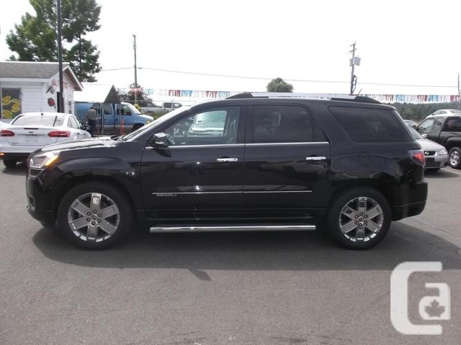 2015 gmc acadia awd denali for sale for sale in nanaimo british columbia classifieds. Black Bedroom Furniture Sets. Home Design Ideas