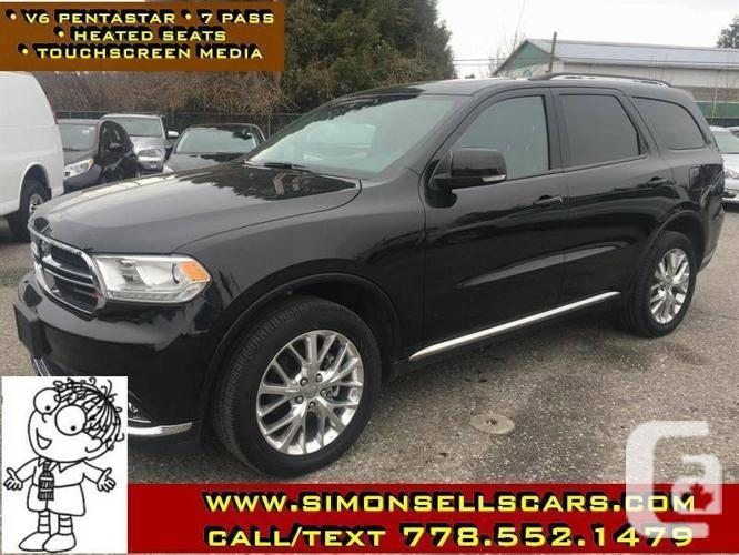 2016 DODGE DURANGO LIMITED - FULL LOAD - NAV - REAR DVD
