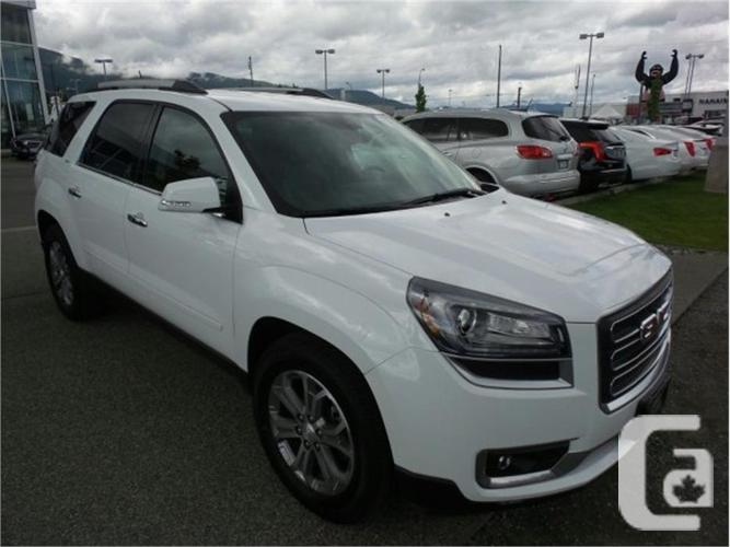 2016 gmc acadia slt awd for sale in nanaimo british columbia classifieds. Black Bedroom Furniture Sets. Home Design Ideas