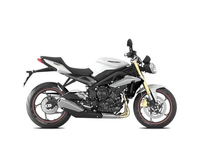 2016 Triumph Street Triple ABS Crystal White Motorcycle