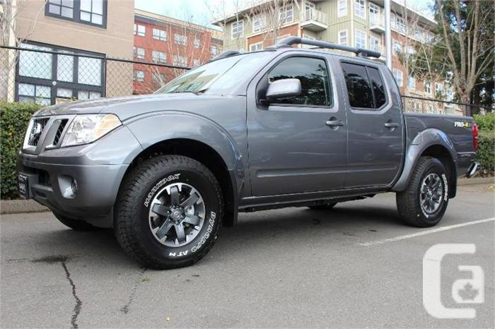2017 nissan frontier pro 4x 4wd for sale in victoria british columbia classifieds. Black Bedroom Furniture Sets. Home Design Ideas