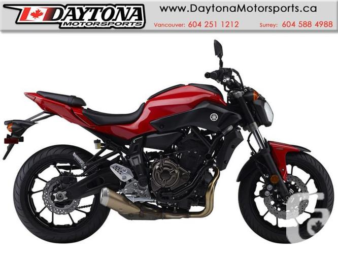 2017 Yamaha FZ-07 ABS Sport Bike  * BRAND NEW -Red *