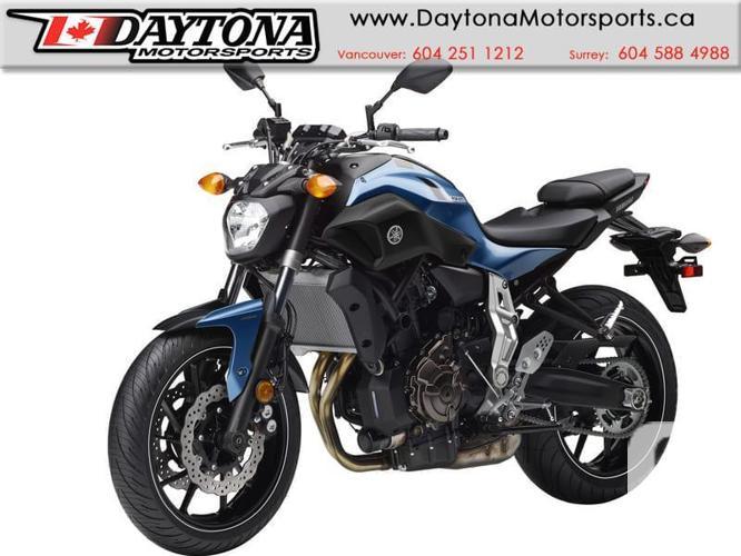 2017 Yamaha FZ-07 ABS Sport Bike  * BRAND NEW -Blue *