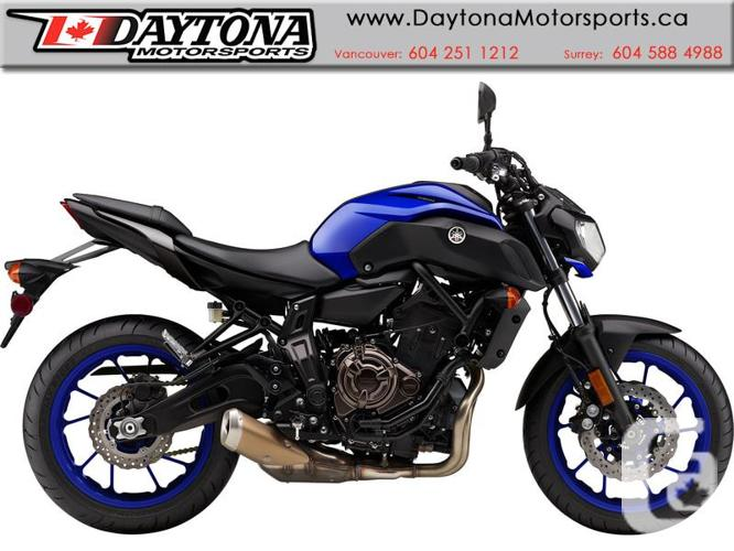 2018 Yamaha MT-07 ABS Sport Motorcycle  * Pre-order