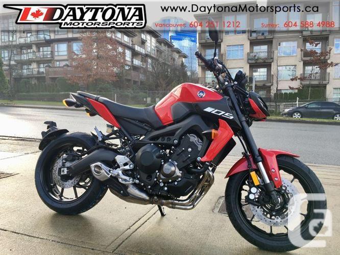 2018 Yamaha MT-09 ABS Sport Bike  * Powered by an