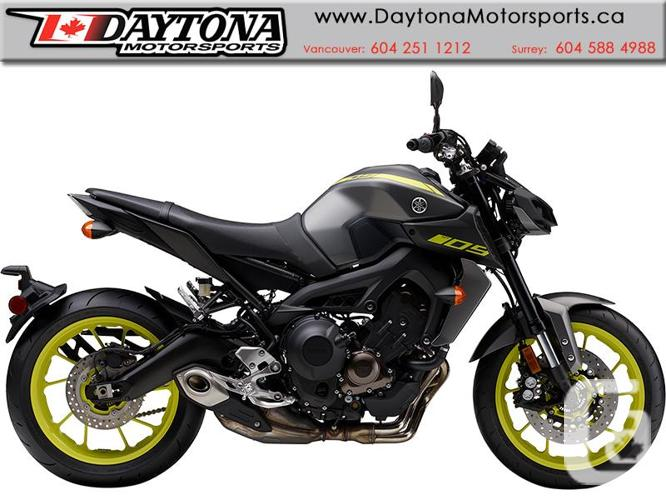 2018 Yamaha MT-09 ABS Sport Motorcycle  * Pre-order