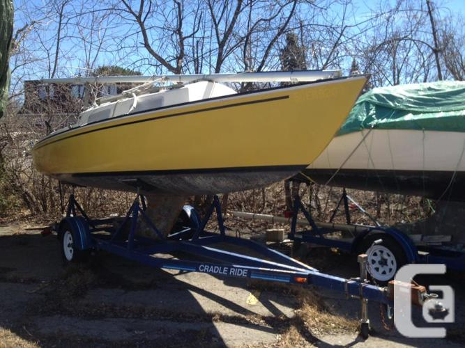 24' Shark sailboat + trailer, ready for a summer on