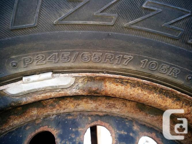 245/65R17 Blizzaks on Hyundai steel wheels