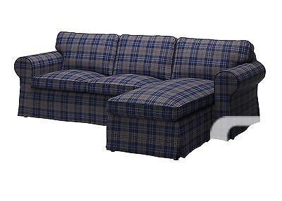 $250 IKEA Ektorp Loveseat with Chaise Slipcover Rutna