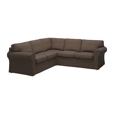Ikea Ektorp Corner Sofa 2 2 Slipcover Jonsboda Brown For