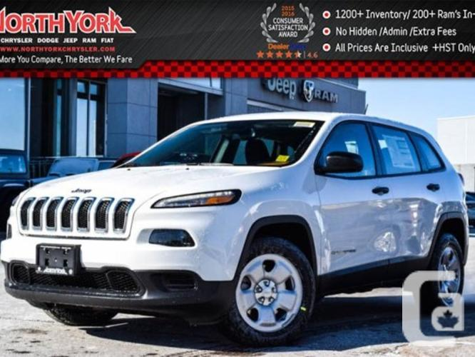 $28,298 New 2016 Jeep Cherokee Sport Backup Cam Cold
