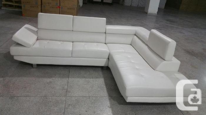 2PCS SECTIONAL WITH ADJUSTABLE HEAD REST 799 NO TAX,