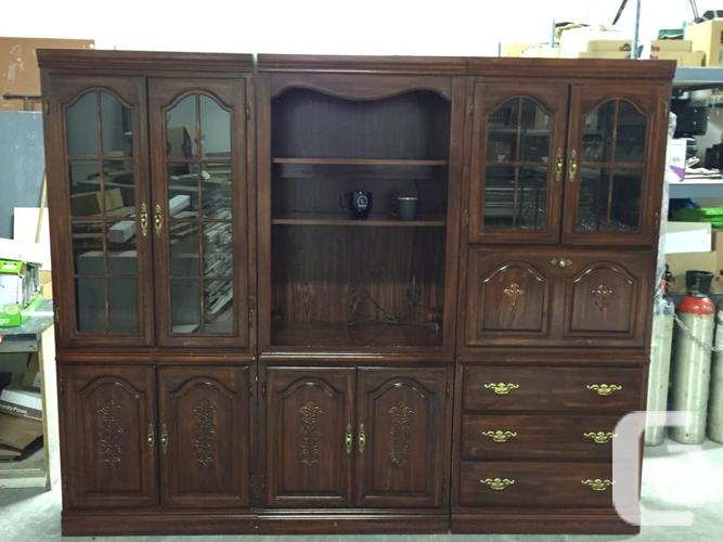 3 Piece China Bar Entertainment Lighted Wall Unit For Sale
