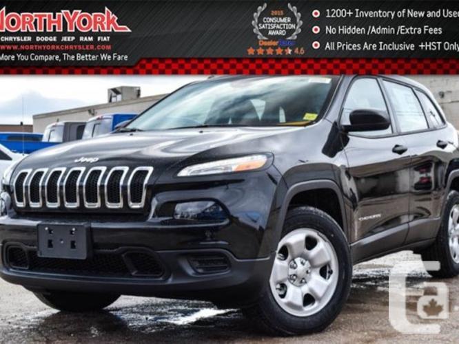 $30,598 New 2016 Jeep Cherokee Sport New 4x4 Backup Cam
