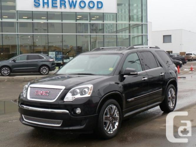 used 2011 gmc acadia denali for sale in sherwood park alberta classifieds. Black Bedroom Furniture Sets. Home Design Ideas