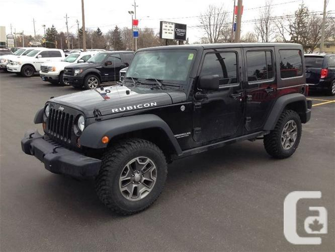 used 2013 jeep wrangler unlimited rubicon for sale in windsor ontario classifieds. Black Bedroom Furniture Sets. Home Design Ideas