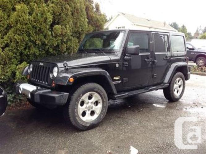 used 2013 jeep wrangler unlimited sahara for sale in north vancouver british columbia. Black Bedroom Furniture Sets. Home Design Ideas