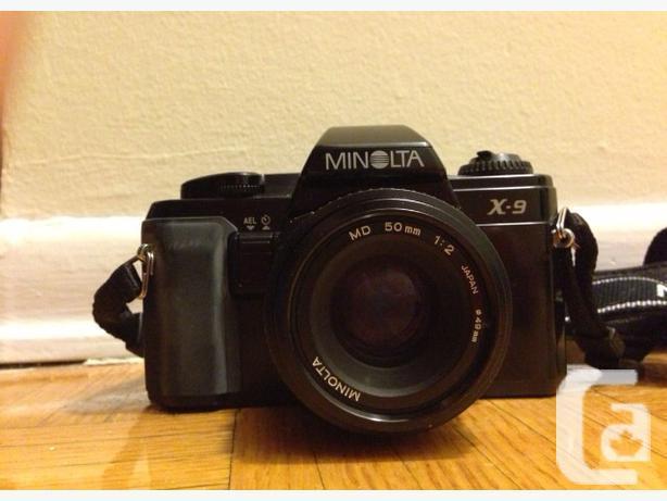 35mm Minolta Manual SLR Camera with 50mm Lens